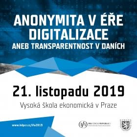 """Konference na téma """"Anonymita v éře digitalizace aneb transparentnost v daních"""""""