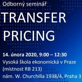 ODBORNÝ SEMINÁŘ – TRANSFER PRICING